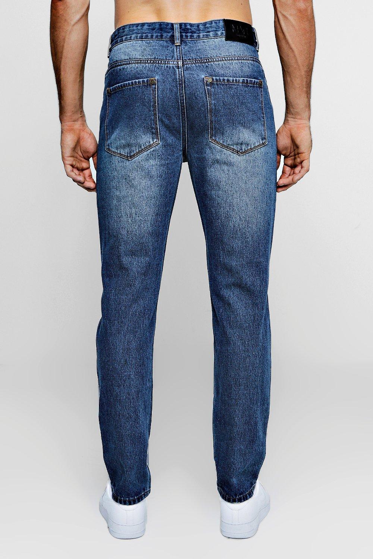 desgastados Jeans oscuro fit slim azul HwErEqf