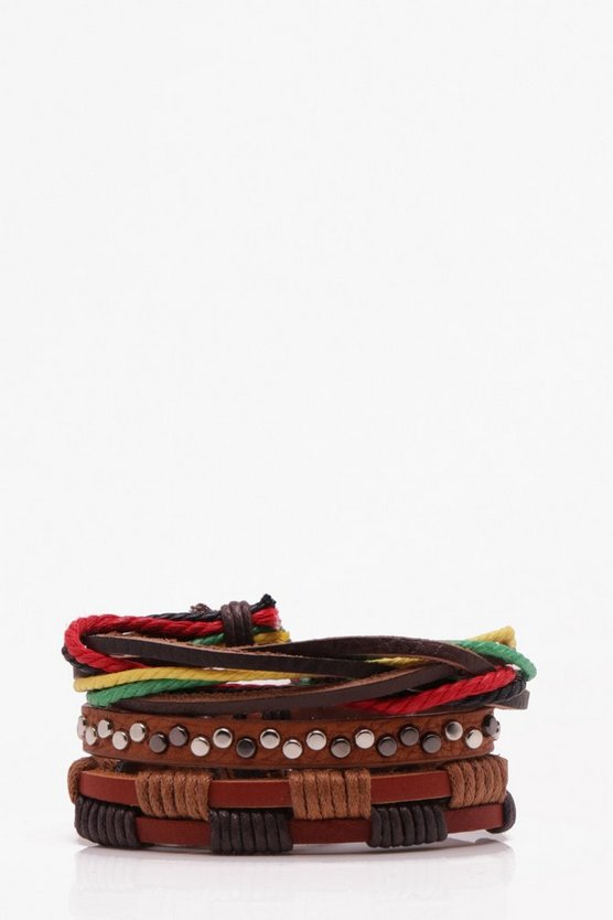 Woven Colourful Stack Bracelet