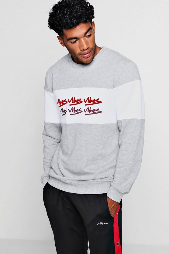 Vibes Colour Block Sweatshirt