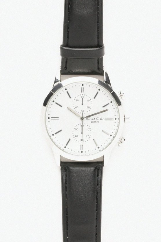 Silver Face Classic Watch