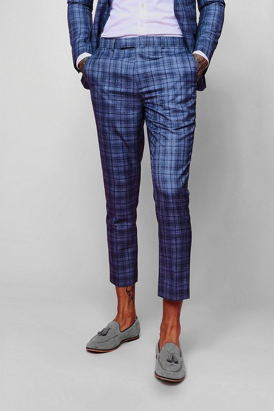 Jaspe Check Skinny Fit Trouser