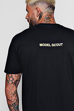 Oversized Model Scout Slogan T-Shirt