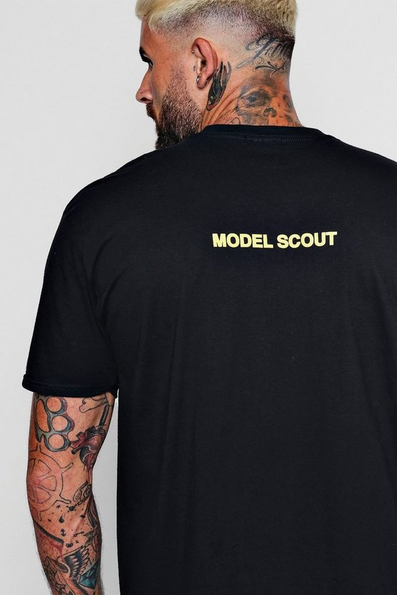 Oversized Model Scout Slogan T-Shirt