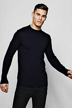 Long Sleeve Turtle Neck Knitted Sweater