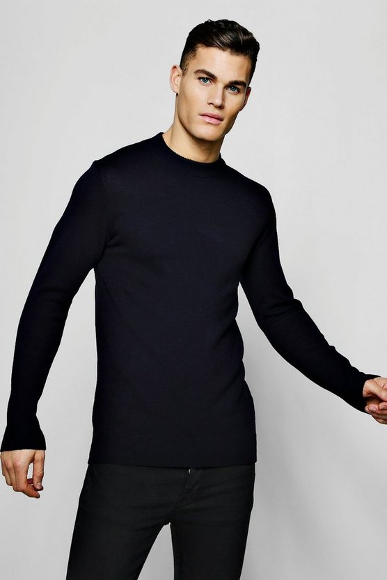 Long Sleeve Turtle Neck Knitted Jumper