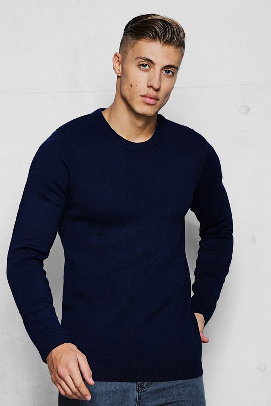 Fine Gage Regular Crew Neck Jumper