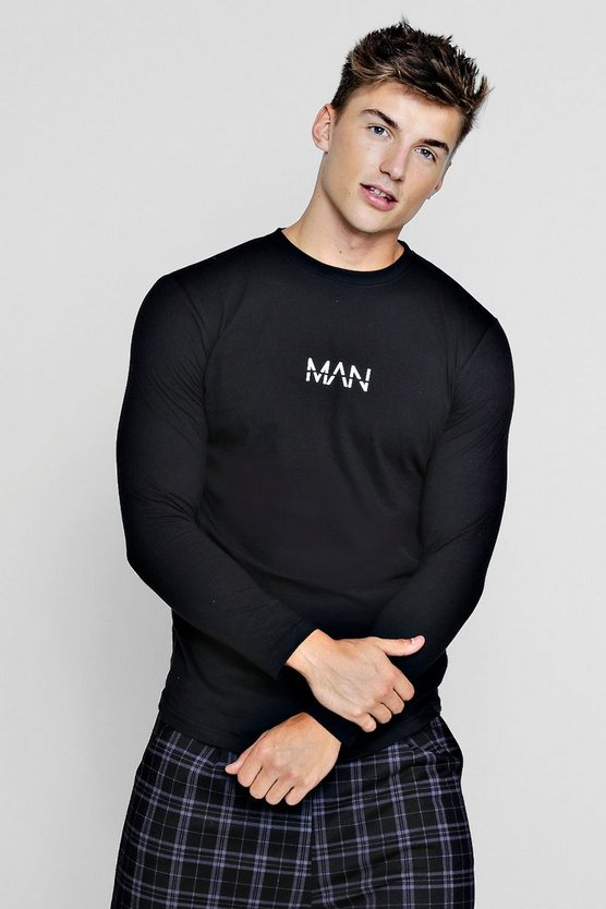 Original MAN Long Sleeve Curve Hem T-Shirt