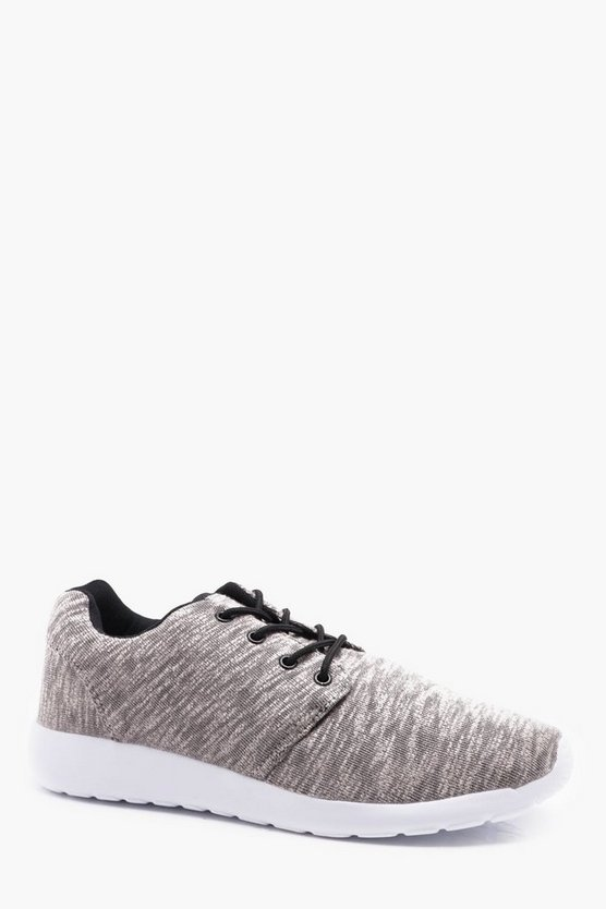 Marl Knitted Trainer