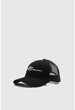 Mens 3D Gold Embroidery Exclusive Trucker