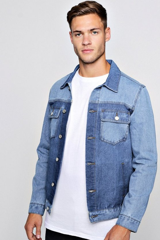 Contrast Denim Trucker Jacket