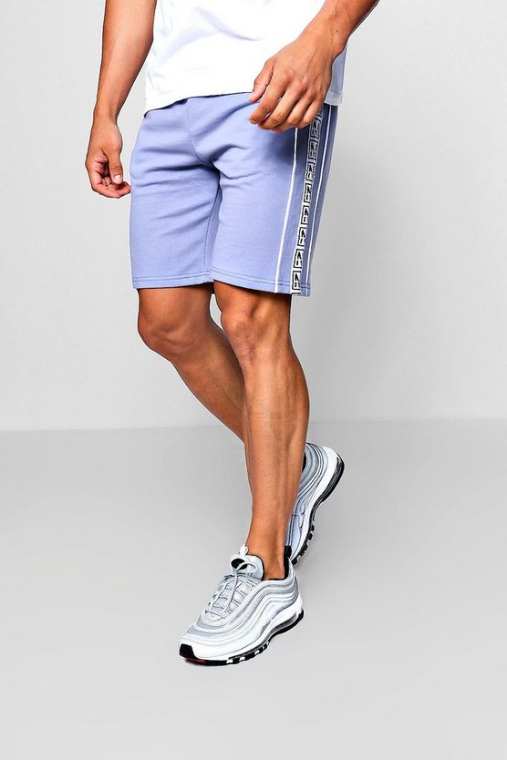 M Tape Mid Length Shorts With Piping