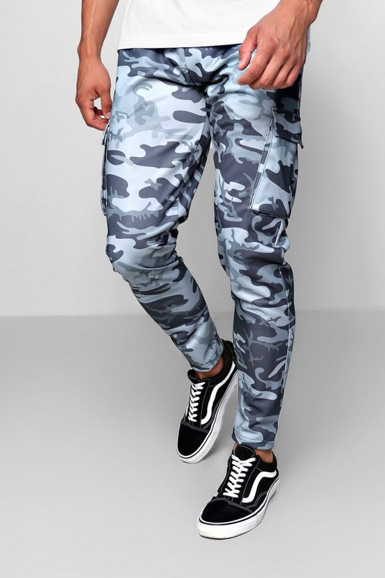 Camo Print Cargo Skinny Fit Joggers