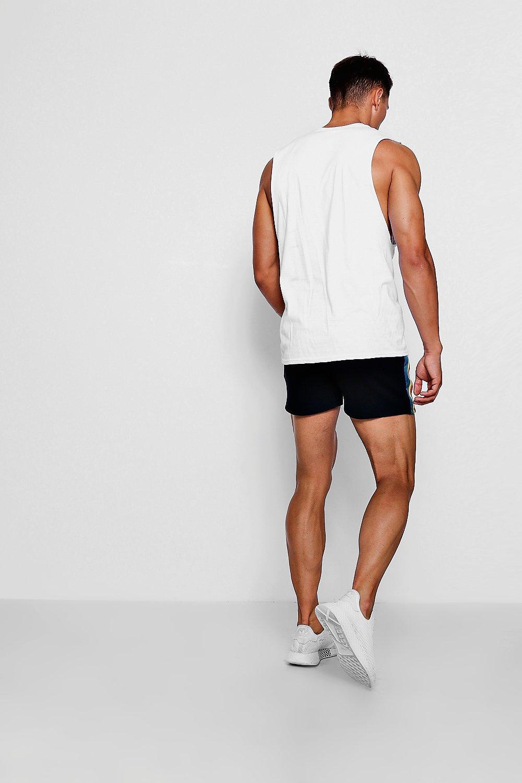 correr lateral con jersey cortos de Pantalones gris de 81fqAEnw