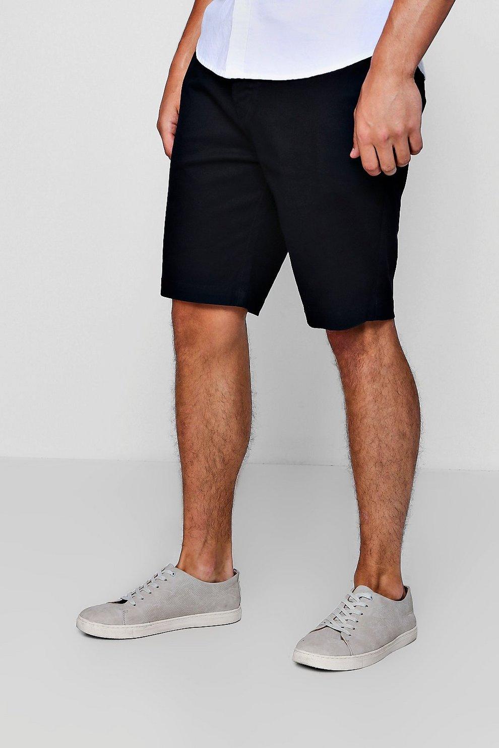 218516b91235 Mens Black Stretch Skinny Fit Chino Shorts