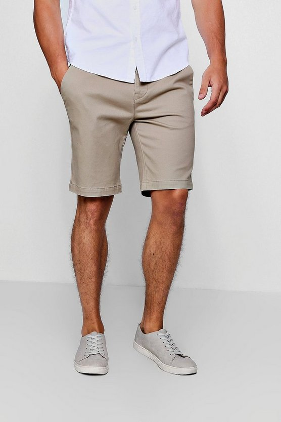Stretch Skinny Fit Chino Shorts