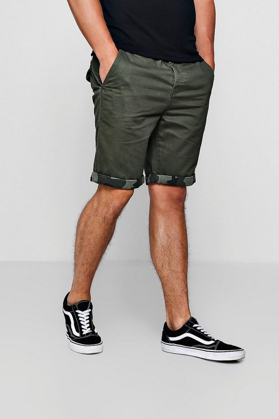 Skinny Fit Chino With Camo Turn Up