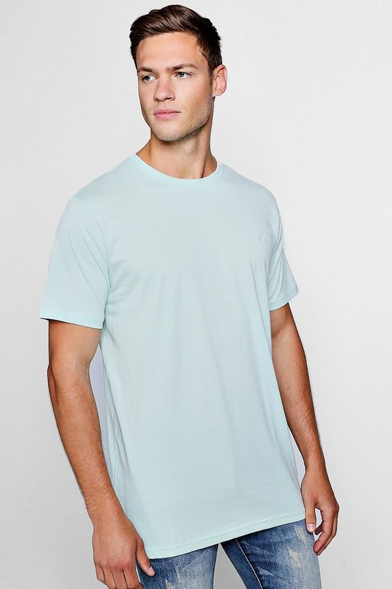 Longline T-Shirt With Step Hem