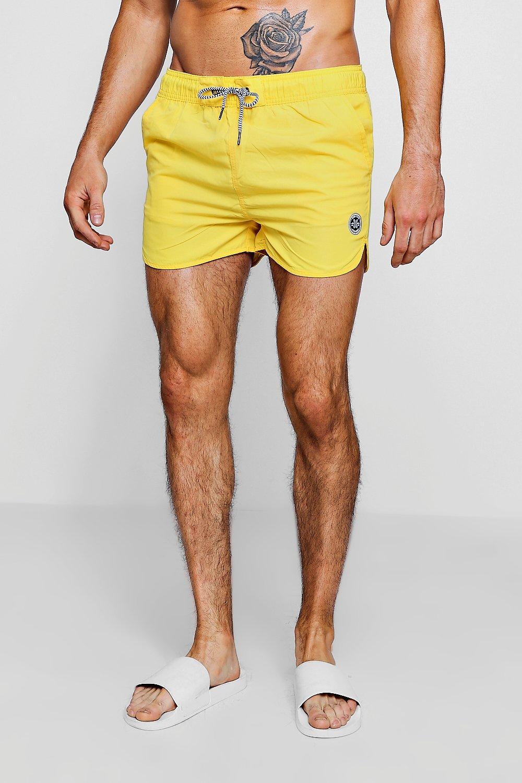 de hombre cordón contraste amarillo correr Bañador para con en vzBdwx7