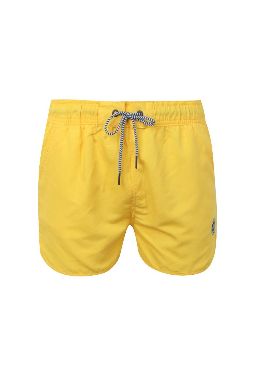 en con para hombre correr cordón amarillo contraste de Bañador wTZPOxBY