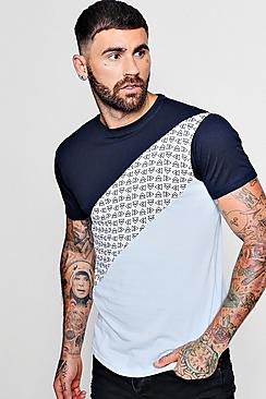 Colour Block Print T-Shirt