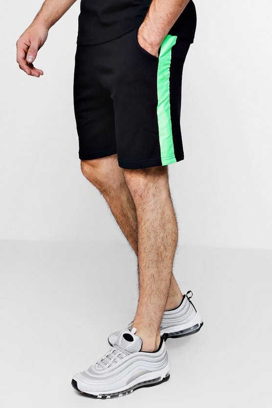 Neon Taped Mid Length Short