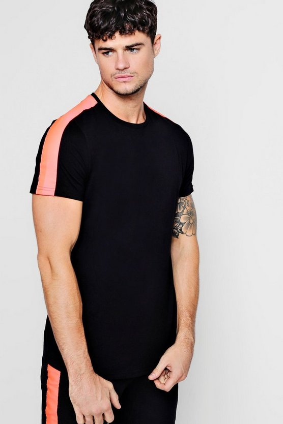 Mens Pink Neon Tape T-Shirt