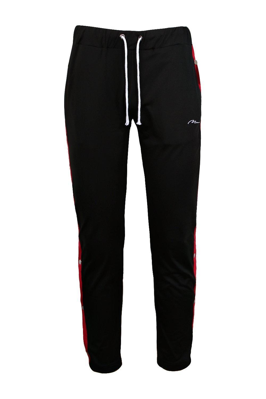 tricot skinny con la correr negro línea Pantalones de MAN de broches en xnqOIEAXHw