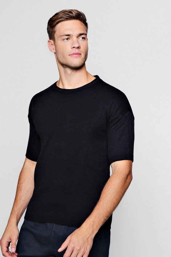 Short Sleeve Knitted T-Shirt