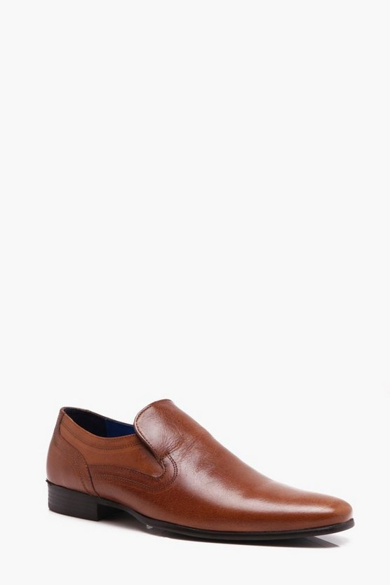 Real Leather Slip On Shoe