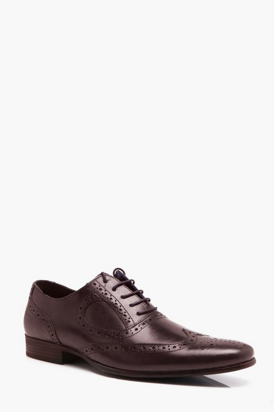 Real Leather Wingcap Brogue