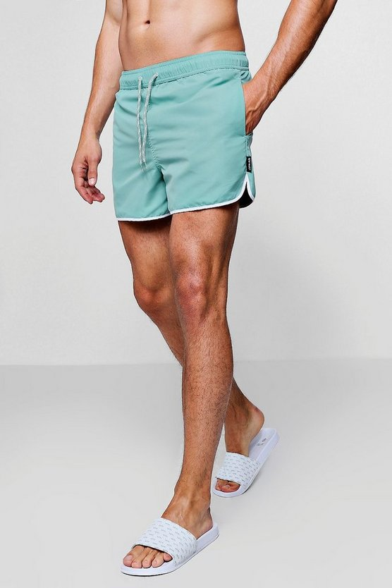 Pale Green Runner Swim Short