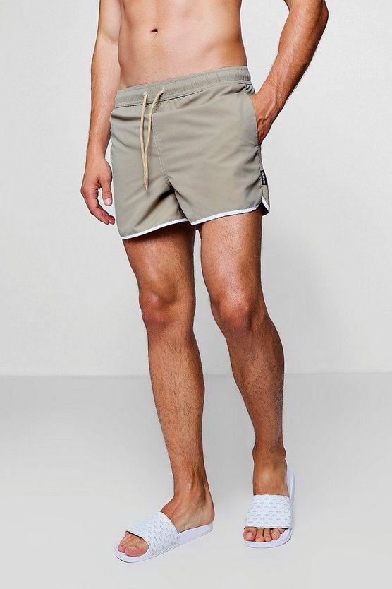 Taupe Runner Swim Short