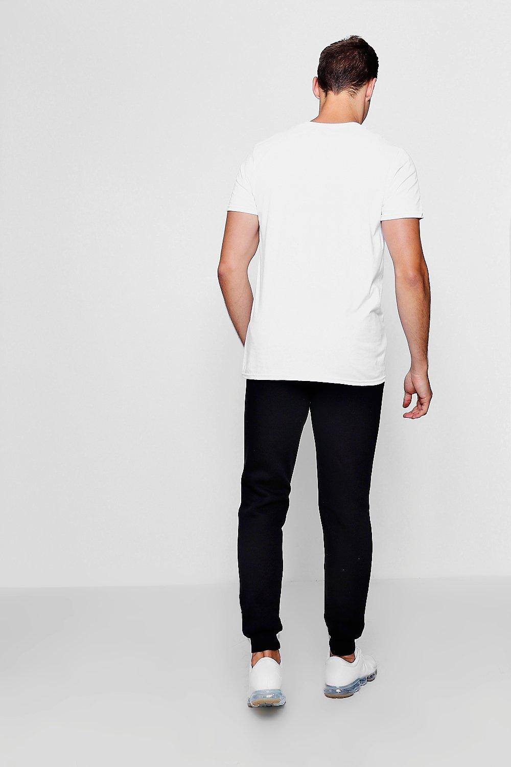black Skinny Panel Signature Joggers With Fit Man BWxZqw0YZ1