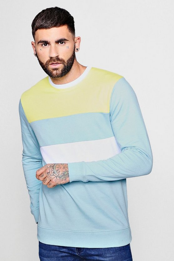 Pastel Colour Block Sweatshirt