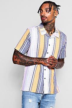 Thin Stripe Revere Short Sleeve Shirt