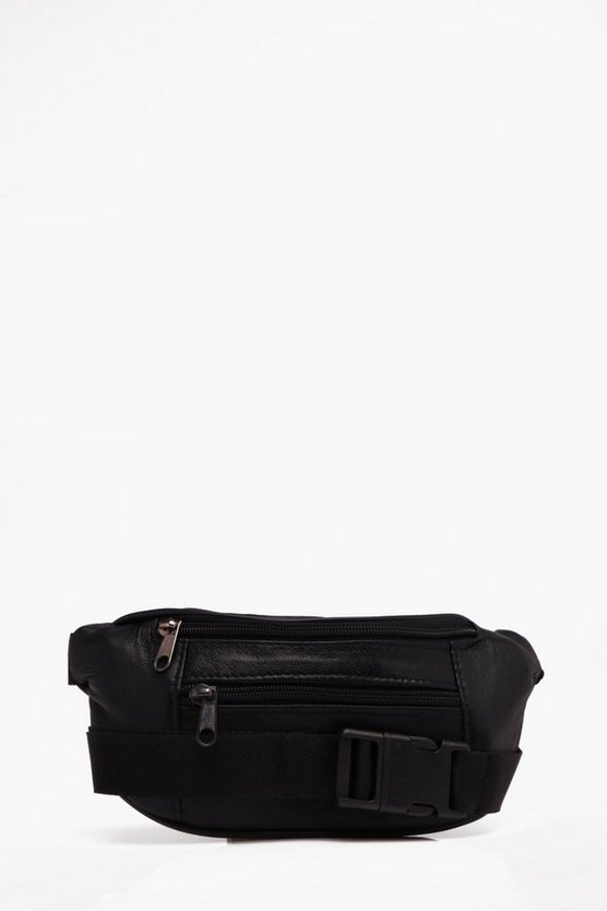 Front Focket Faux Leather Bum Bag