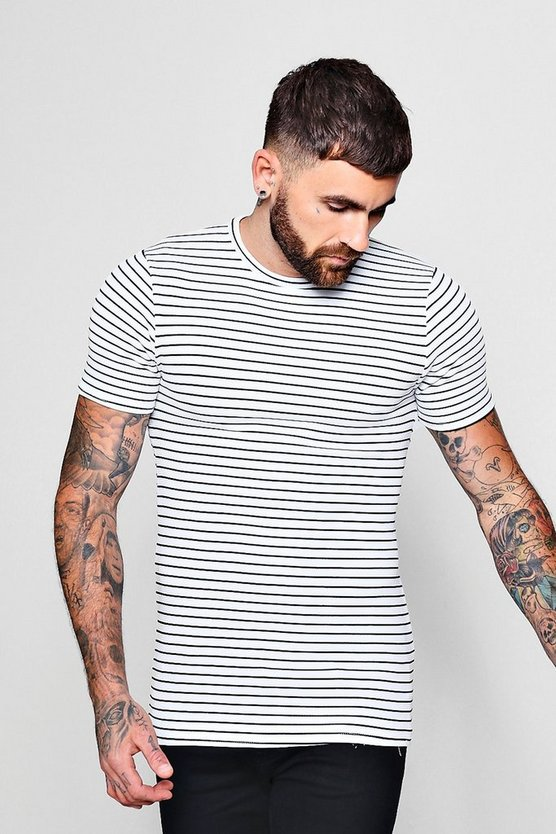 Muscle Fit Ottoman Stripe T-Shirt