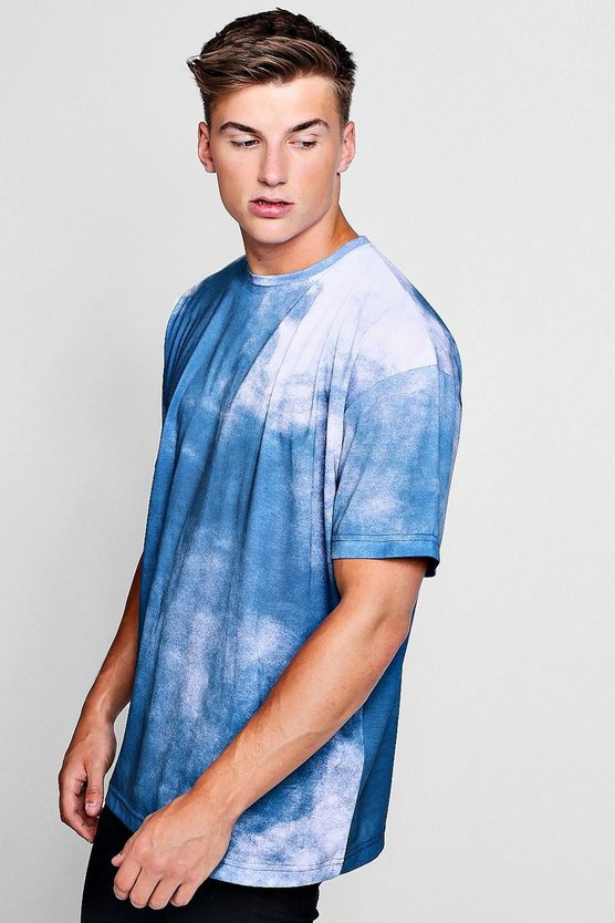 Oversized Smoke Design T Shirt by Boohoo Man