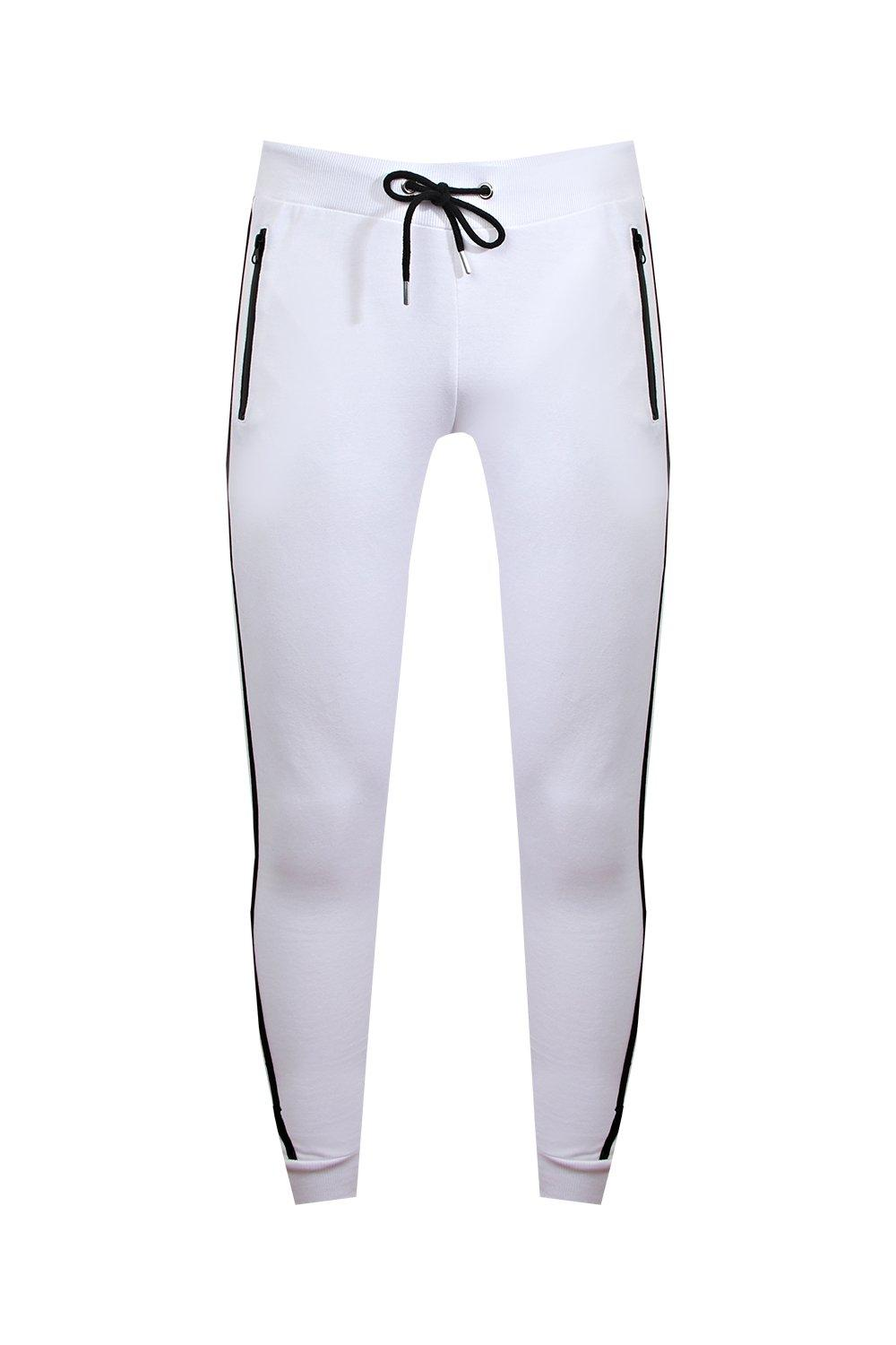 Joggers Tape Skinny white Super Side UZtnqzxXw