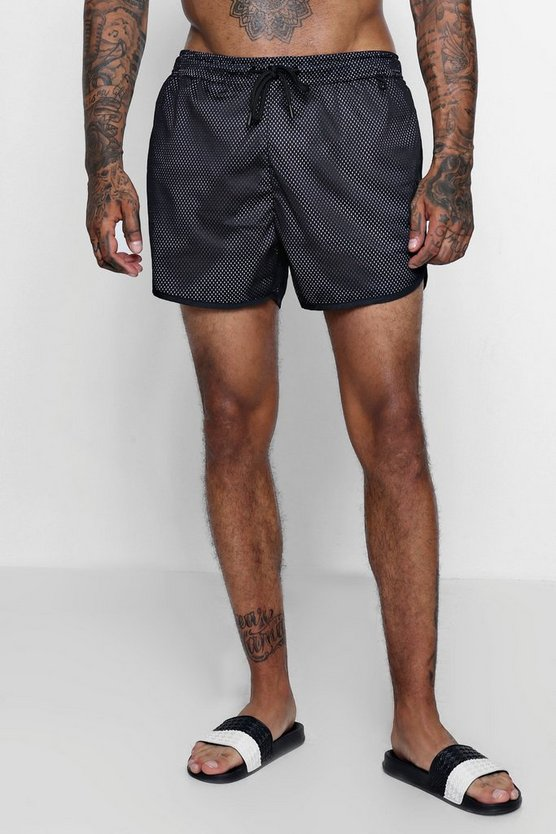 Runner Swim Shorts With Mesh Panel