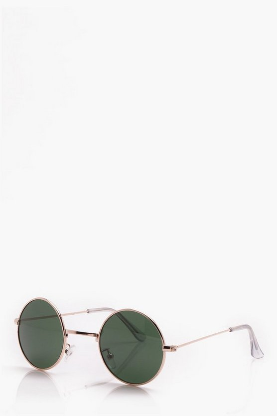Gold Edge Round Sunglasses