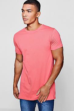 Longline Curved Hem T-Shirt