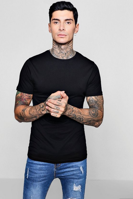 Curve Back T-Shirt With Centre Seam