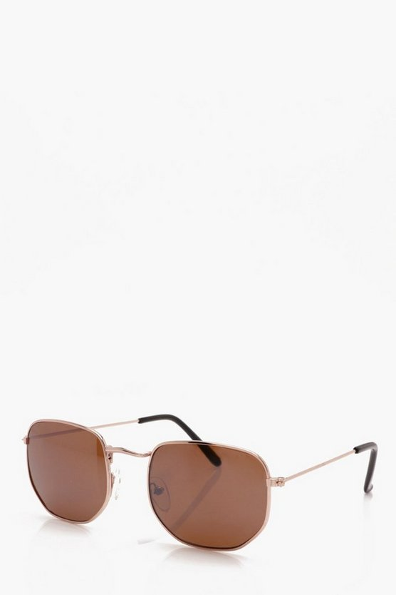 Hexagon Round Sunglasses