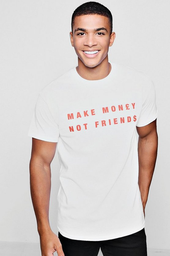 Make Money Slogan Print T-Shirt