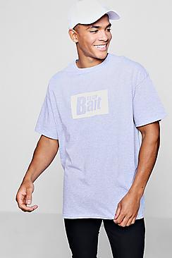 Click Bait Oversized Slogan T-Shirt