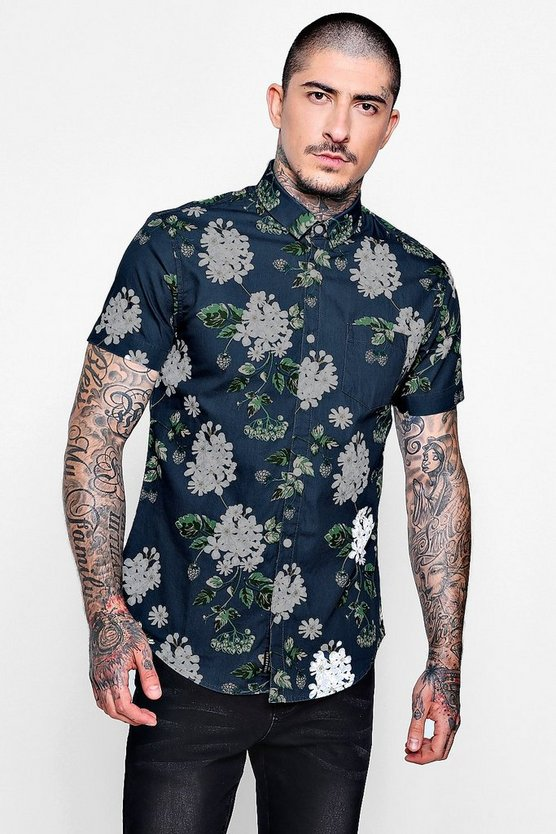 Floral Short Sleeve Shirt