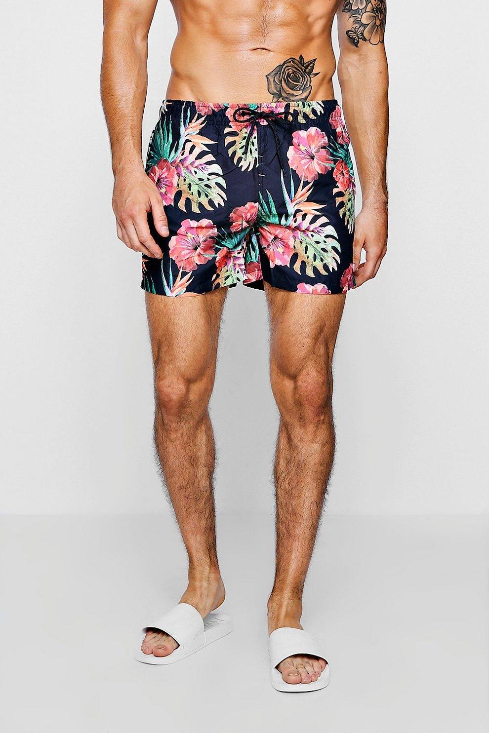 0f1de9341d584 Floral Print Swim Shorts | Boohoo