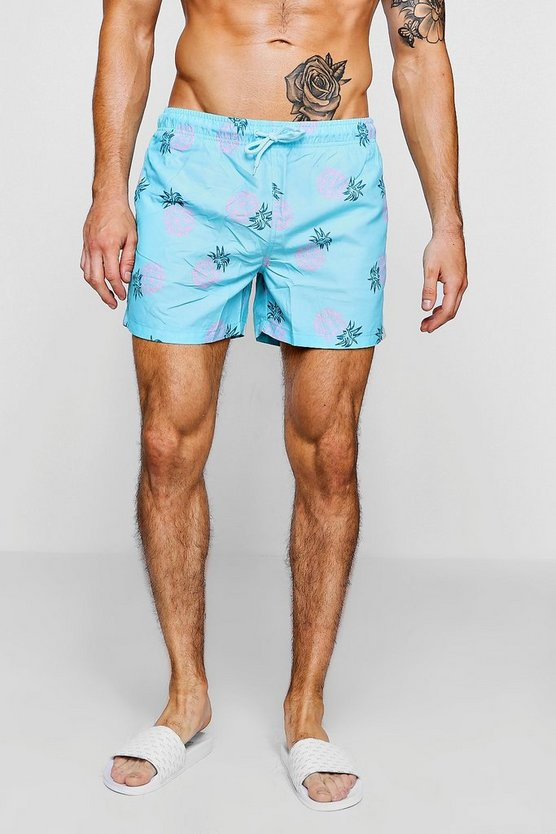 Pineapple Print Swim Shorts