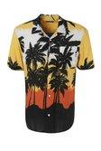 Short Sleeve Palm Print Revere Shirt Co-ord alternative image
